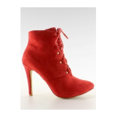 Dámske červené členkové topánky - h253