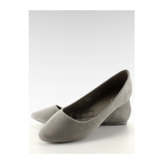 Úžasné šedé semišové balerínky - c56