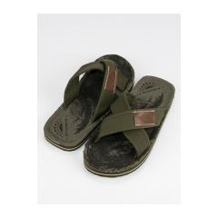 Pánske zelené textilné šľapky  - A8910KH