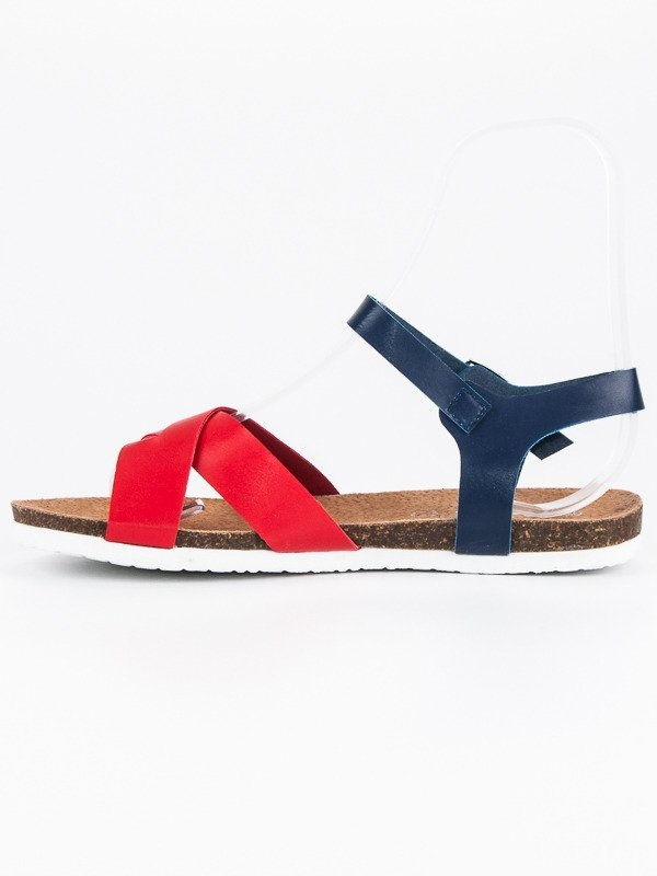 a7b5a0ee4221 Dámske pohodlné modro červené sandále - LC122631N-R