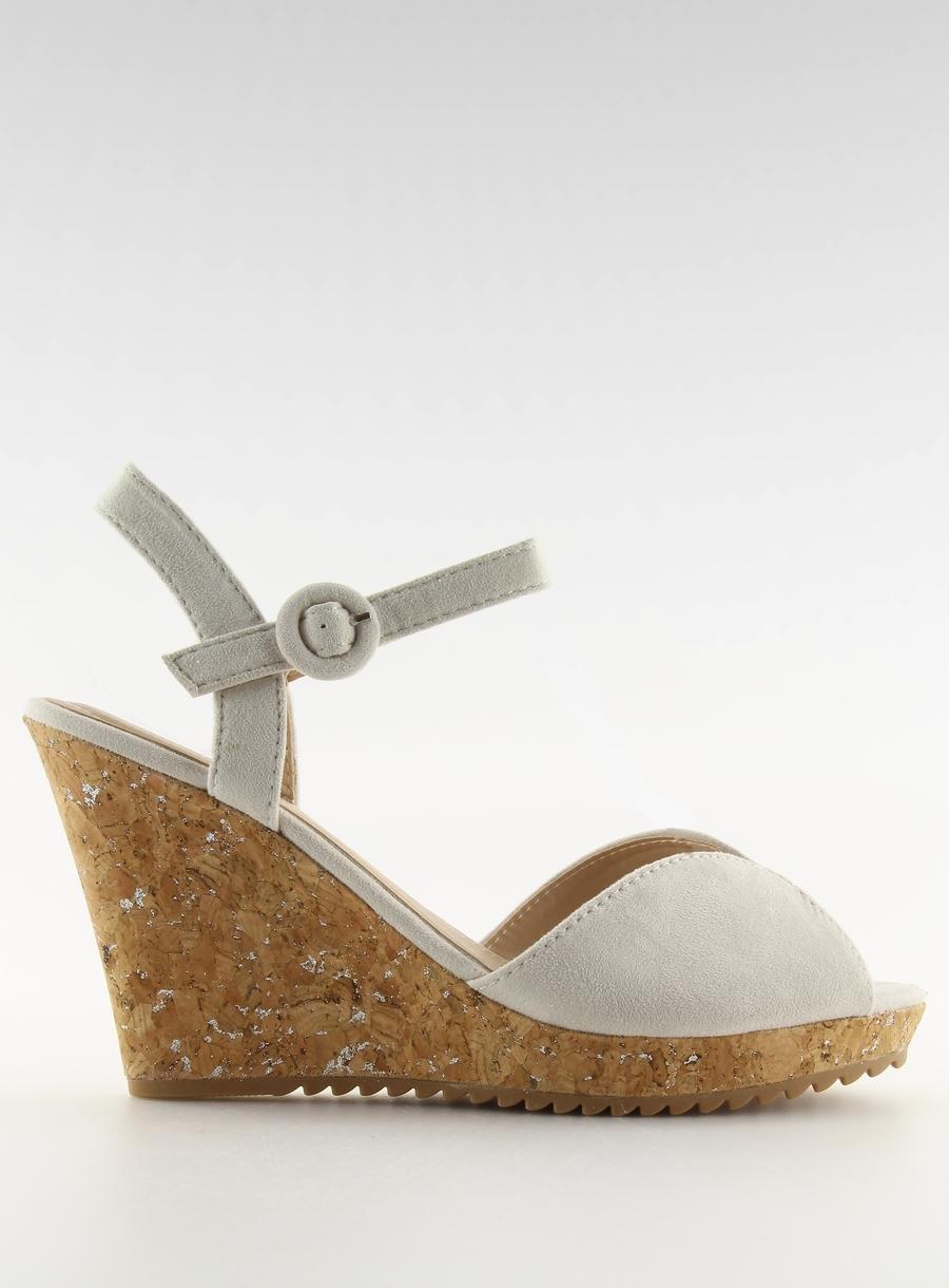 0fd8d5beb922b Dámske šedé sandále na korkovej podrážke - 3811-13 | dawien.sk