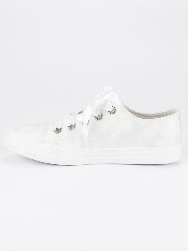 1bd1a64e17 Dámske módne biele tenisky - BM1976W