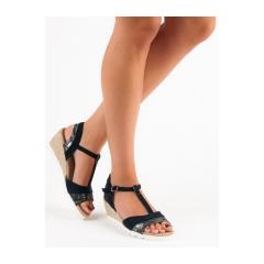 310c6956e2d8 Dámske čierne sandále na kline - SD76212N