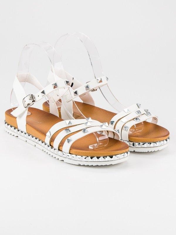 3d1f97b0bf Dámske biele rockové sandále - WSJ-50W