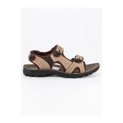 Pánske hnedé kožené sandále  - 0S2397KH