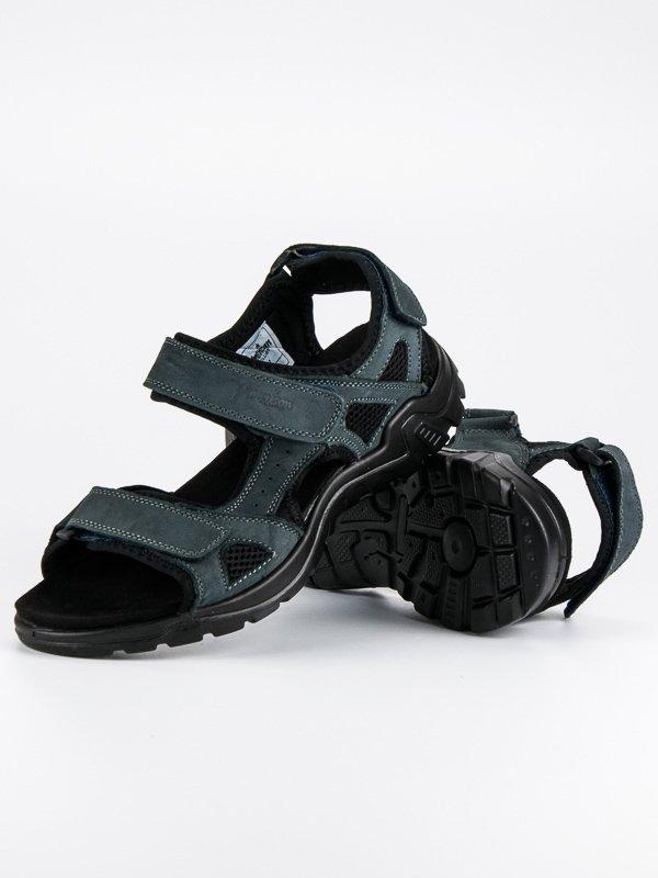 c323e85d813a3 Pánske modré kožené sandále - AT02N | dawien.sk