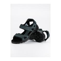 Pánske modré kožené sandále  - AT02N