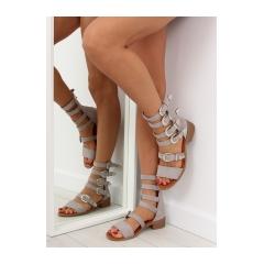 Dámske šedé sandále gladiátorky - NC159
