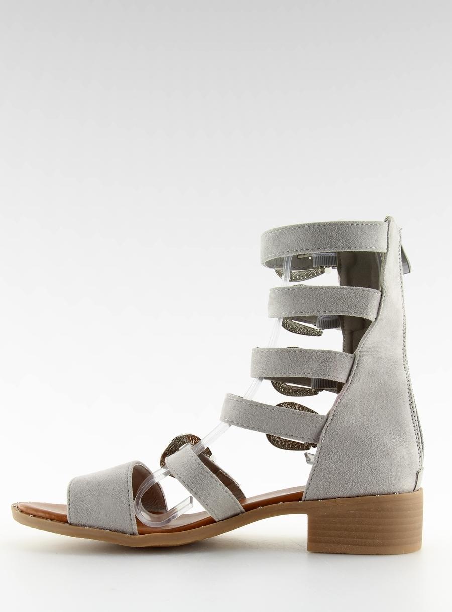 b163fe3077 Dámske šedé sandále gladiátorky - NC159