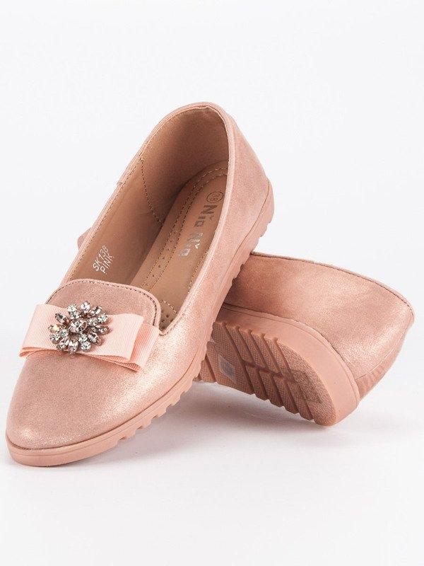 3365c94e6 Elegantné dámske ružové balerínky - SK138P | dawien.sk