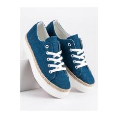 4c08afe0e1 Dámske modré CREEPERS na platforme - K1831602MAR