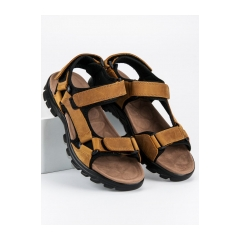 Pánske hnedé pohodlné sandále  - HXZ1719BE