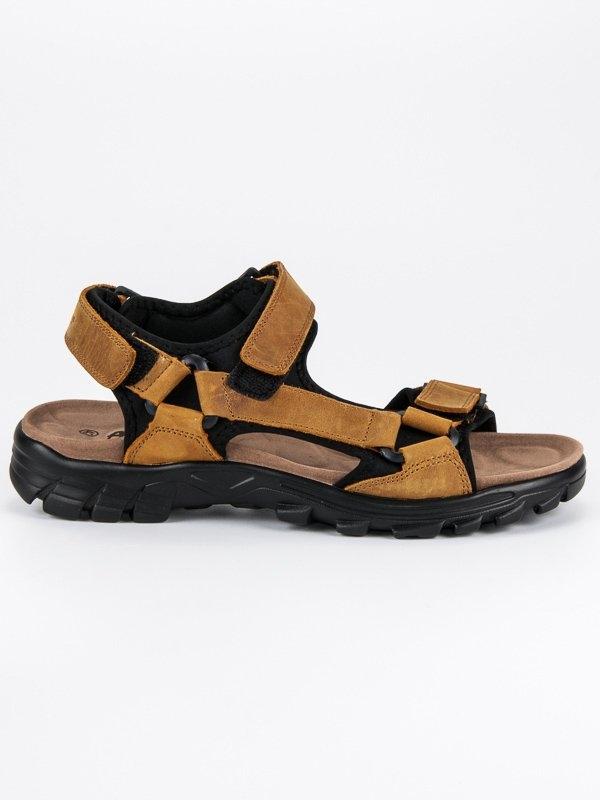 b2f48c84899d Pánske hnedé pohodlné sandále - HXZ1719BE