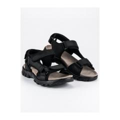 Pánske čierne pohodlné sandále  - HXZ1719B