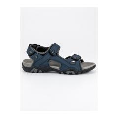 Pánske modré sandále na suchý zips  - BIF0072N