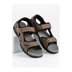 Pánske hnedé sandále na suchý zips  - BIF0072BE