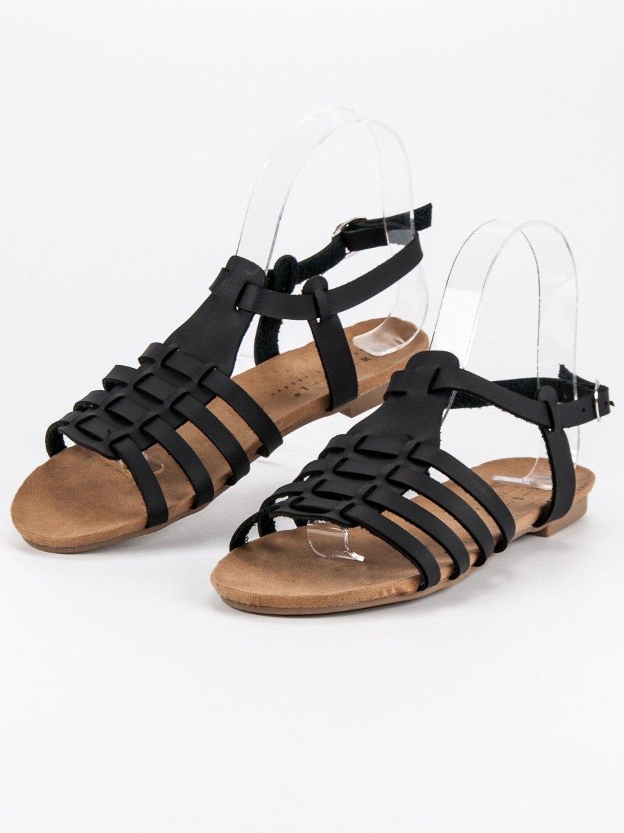 94635c577ba0 Pohodlné dámske čierne sandále - FS011177B