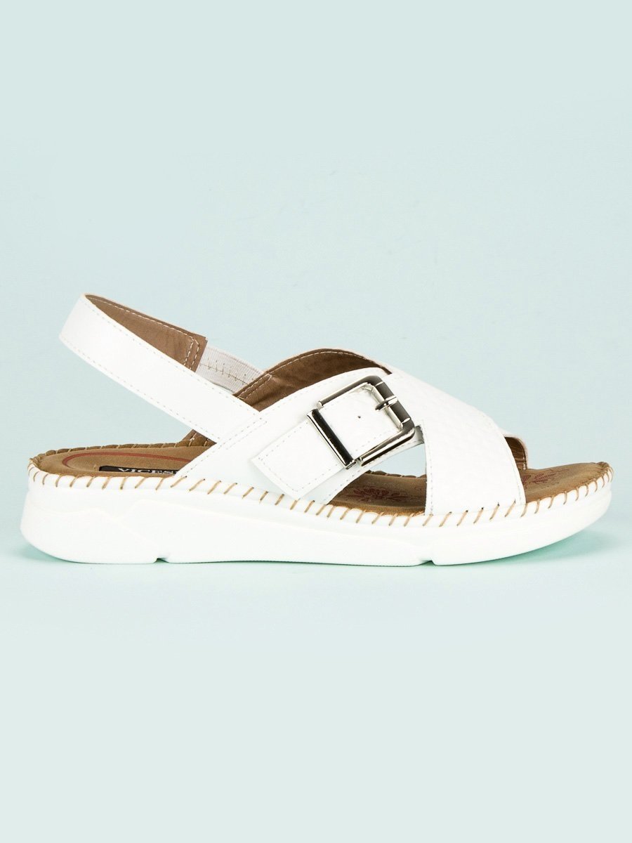 ce9706b760f1 Pohodlné dámske biele sandále - 4095-41W