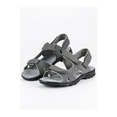 Pánske šedé sandále na suchý zips  - S2399DK.G