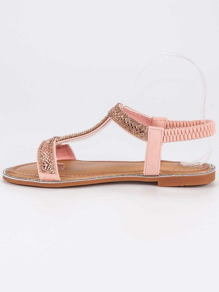 db1d75926489 Dámske ružové sandále s gumičkou - LS-6006P