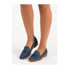 Dámske modré semišové lordsy  - 6883JE