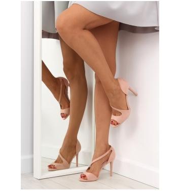 Originálne dámske ružové sandále- C90