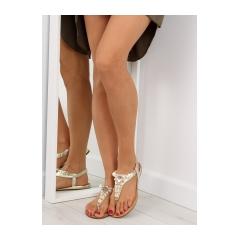Dámske zlaté sandále - D580