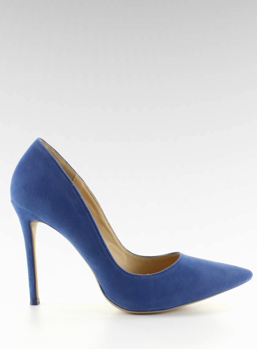 e40543dd8ab2 Dámske modré semišové lodičky - 5438