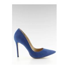 Dámske modré semišové lodičky - 5438
