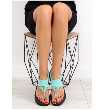 Dámske zelené bavlnené sandále - DD81P