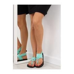 251034-damske-zelene-bavlnene-sandale-dd81p