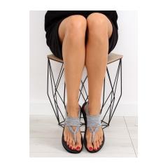 Dámske šedé bavlnené sandále - DD81P