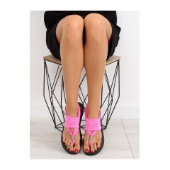 Dámske fuchsiové bavlnené sandále - DD81P