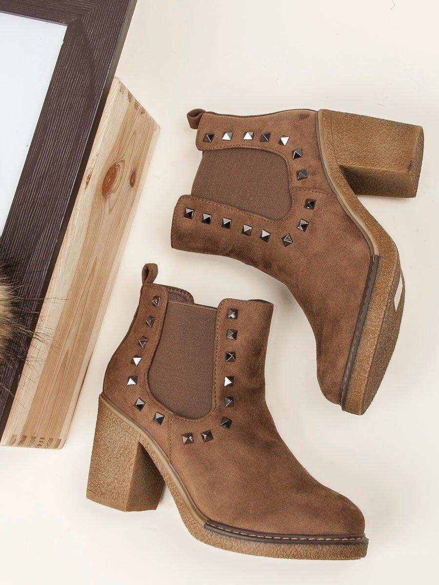 d1e604a888 Dámske hnedé členkové topánky - JH55KH