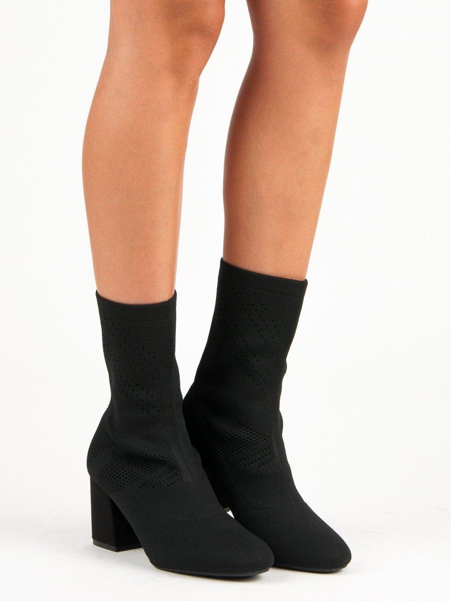 cba3e422e Dámske čierne textilné členkové topánky - K6215B | dawien.sk