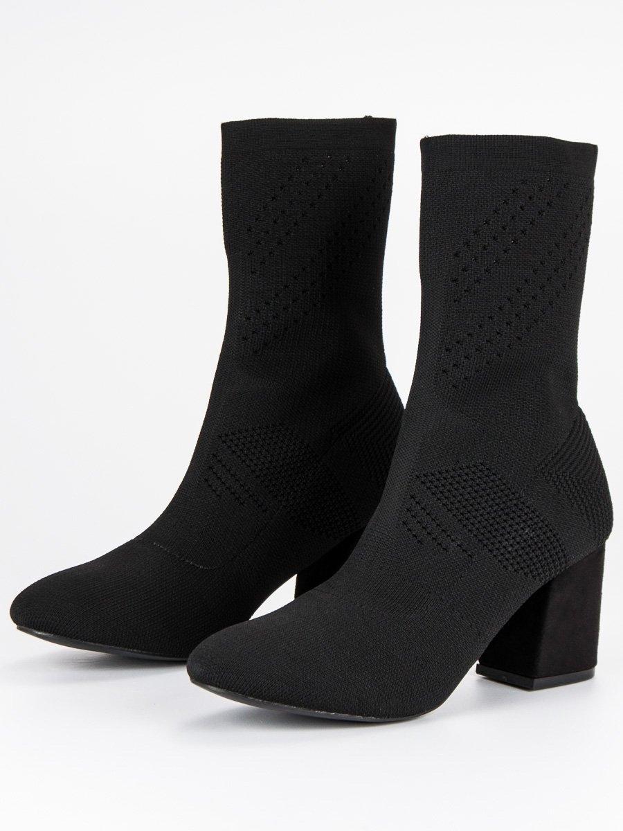 94572a1b2d5d Dámske čierne textilné členkové topánky - K6215B