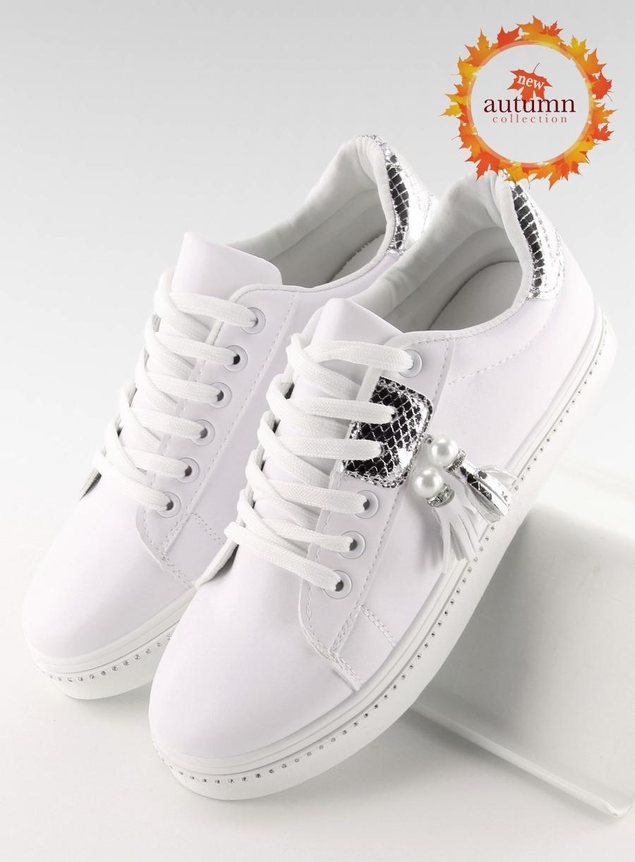 1e3fb4355 Dámske bielo strieborné tenisky - 88038 | dawien.sk