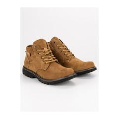 Pánske hnedé kožené členkové topánky - SD4655-5C