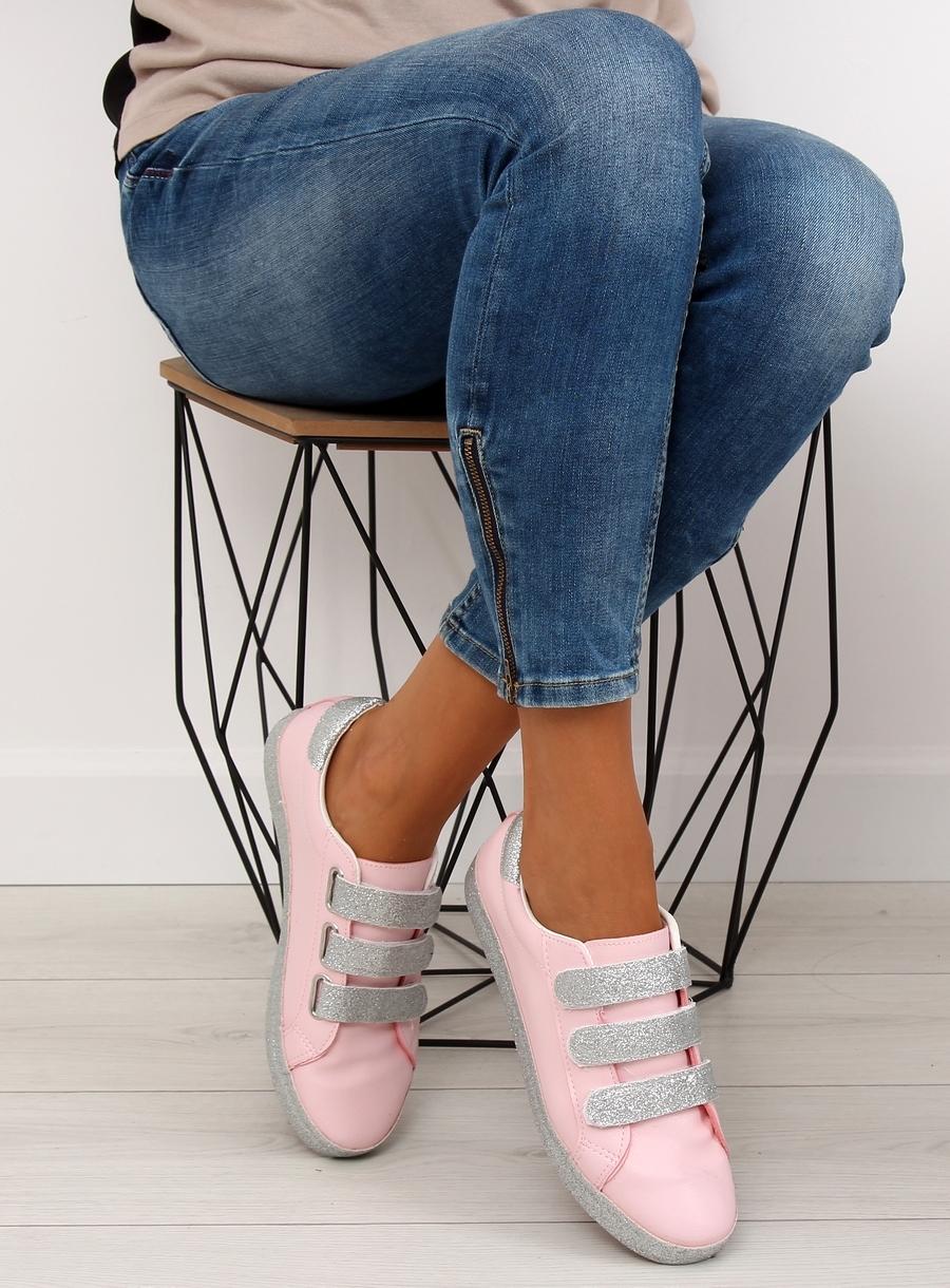 Dámske ružové tenisky so zapínaním na suchý zips - XL10P  a2289e7e834