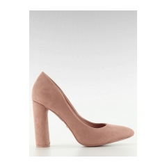 Dámske ružové semišové lodičky - le027p