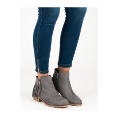 84d118e031 Dámske šedé členkové topánky - KA579G