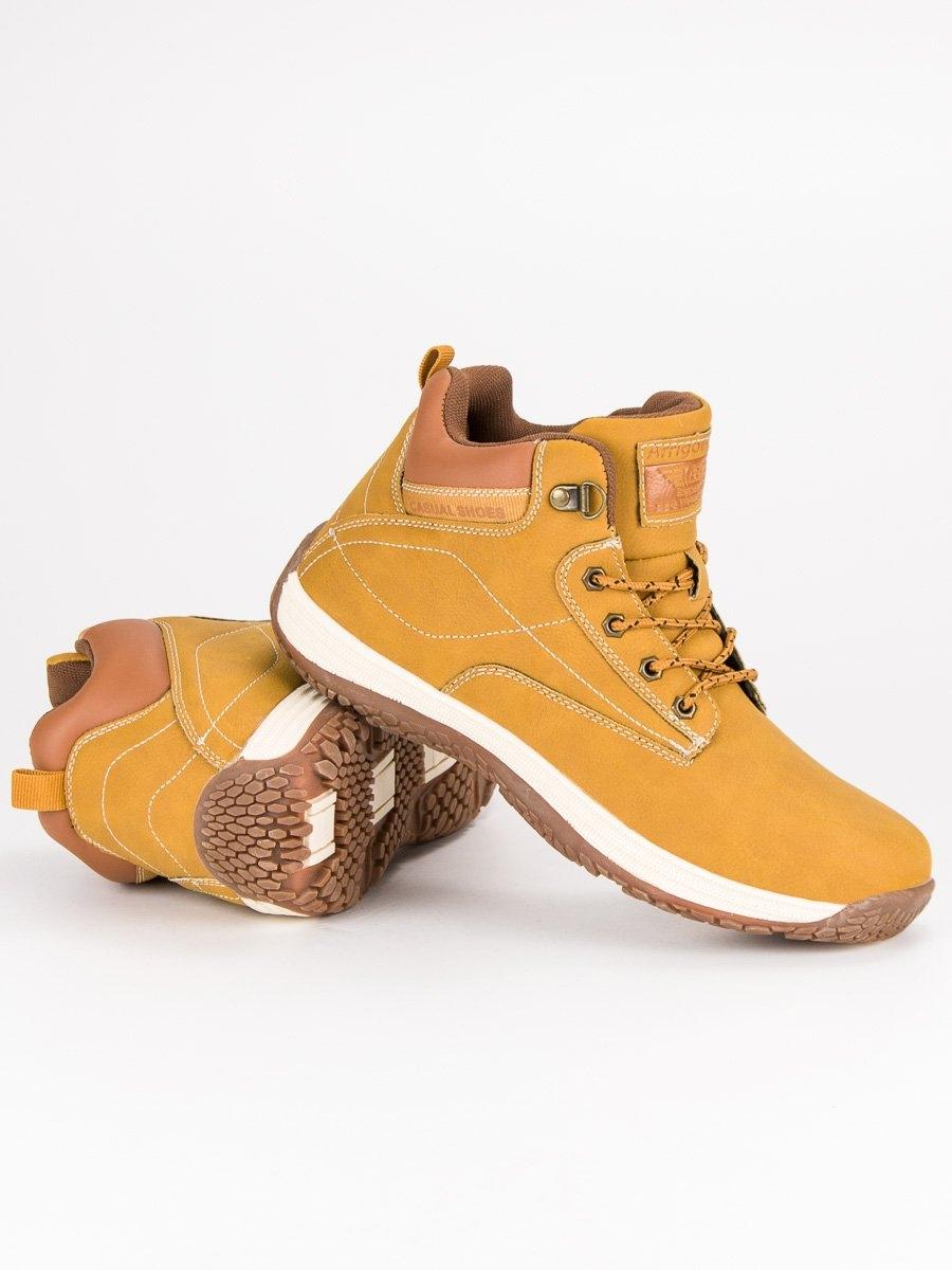 b9657db1fa Pánske žlté členkové topánky - A8355Y