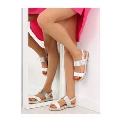 Dámske biele sandále - SL88P