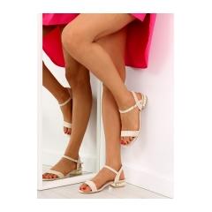 Dámske béžové semišové sandále - 99-76