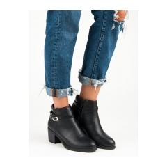 Dámske čierne členkové topánky - 3757B 57659036864