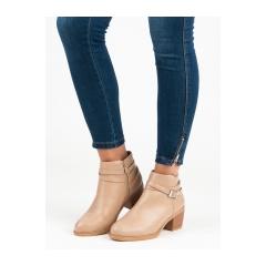 Dámske béžové členkové topánky - 3757BE 52184386000