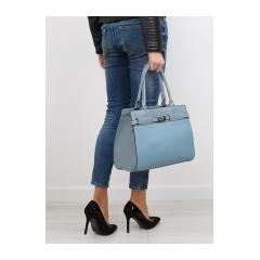 Klasická dámska modrá kabelka