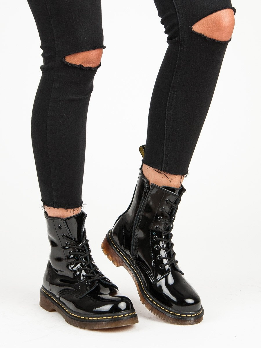 1e860a13227b Dámske čierne lakované členkové topánky GLADY MCKEY - GL430 18B ...