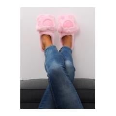 Dámske ružové šľapky - DD93