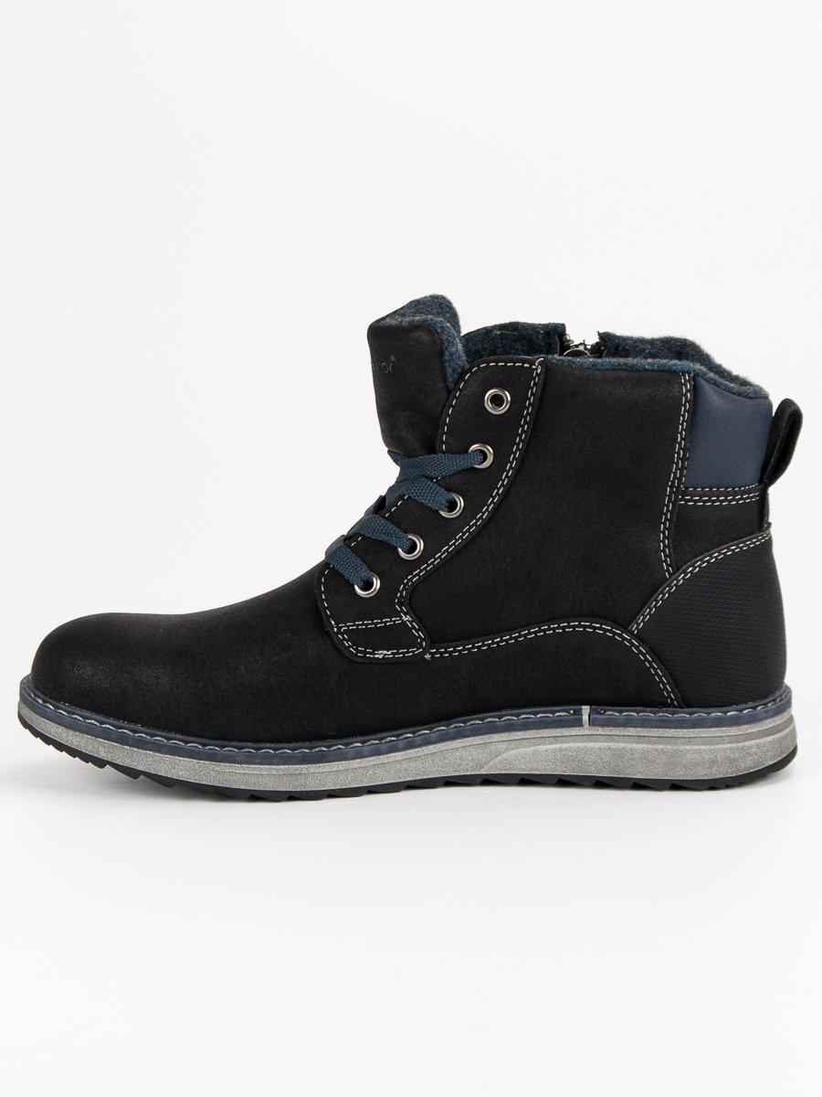 97366530483e5 Pánske čierne športové topánky MCKEYLOR - HAN19-14204B | dawien.sk
